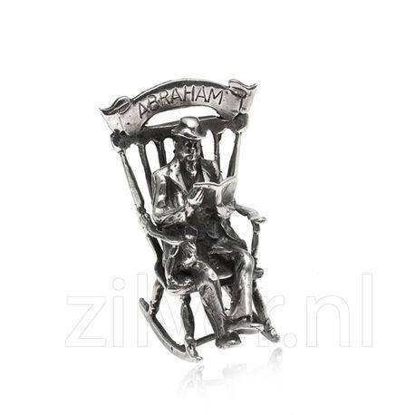 zilveren miniatuur Abraham