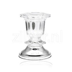 Kristallen Kandelaar Zilveren Voet