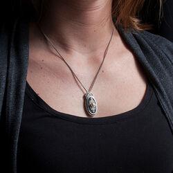 Gl Collier Onyx Collier Parel Swarovski Crystals