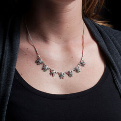 Gl Collier Strikjes Swarovski Crystals
