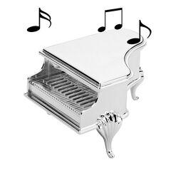 Verzilverde Sieraden Speeldoos Piano