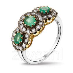 Zilveren Ring Smaragd Zirkonia