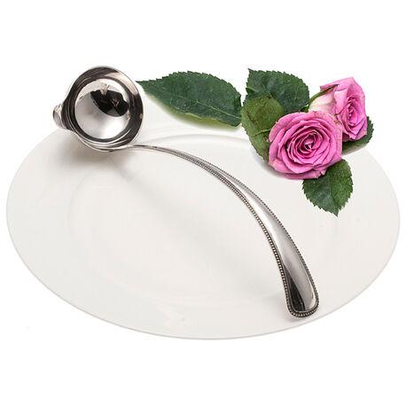 Zilveren Bowllepel Parelrand 20 Cm.