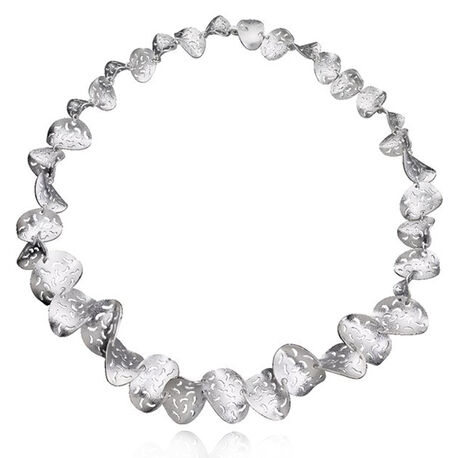 Lapponia zilveren collier coral 663728