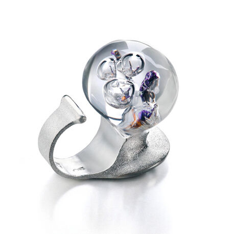Zilveren ring the man in cosmos lila lapponia