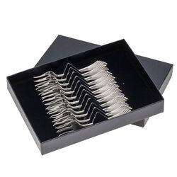 12 Gebaksvorken Zilver Waaiermodel