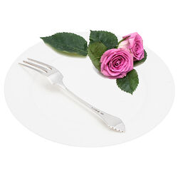 Zilveren Dessertvork Waaier