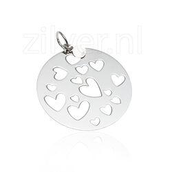 Zilveren hanger hartjes zih953 Zinzi