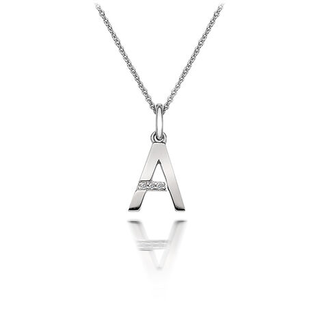 Zilveren collier met hanger letter a dp401 hot Diamonds