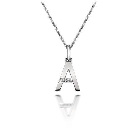 Zilveren collier met hanger letter a dp401 hot Diamonds