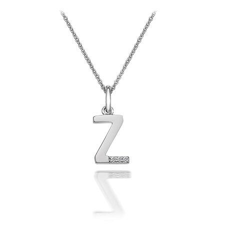 Zilveren letter hanger Z dp426 Hot diamonds
