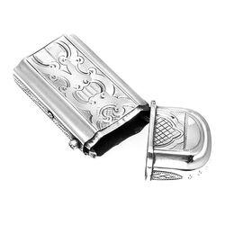 Zilveren Gegraveerde Tondeldoos