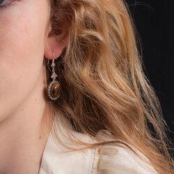 zilveren oorbellen tijgeroog markasiet