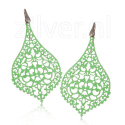 Oorhangers Groen Glitter