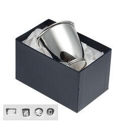 Zilver kinderbeker cup op voet filetrand