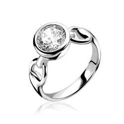 Zinzi Ring Horsebit Rond Zirkonia Zir995