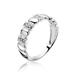 Smalle zilveren ring wit zirkonia ZIR1001s Zinzi