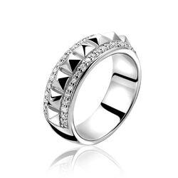 Zilveren ring met studs en zirkonia Zinzi ZIR993