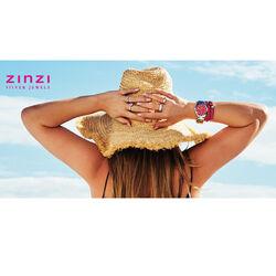 Zilver ring met roze zirkonia ZIR826r Zinzi
