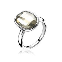zilver ring met wit Swarovski Zinzi ZIR1007