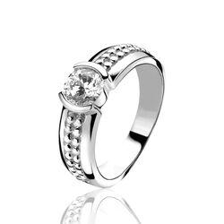 Zilveren ring bewerkte scheen met zirkonia ZINZI ZIR914