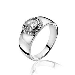 Brede ring met zirkonia inparelrandje ZINZI ZIR912