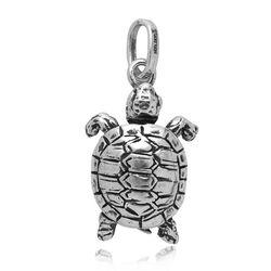 zilveren charms schildpad raspini