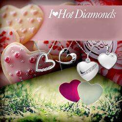 Zilver ketting met harthanger Hot Diamonds