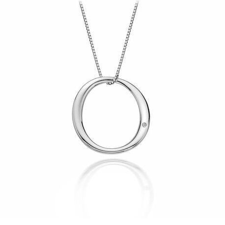 DP437 zilveren ketting Hot Diamonds