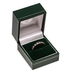 Gouden ring met saffier en briljant
