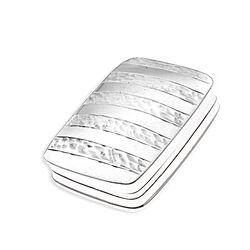 Rechthoekige Zilveren Pillendoos