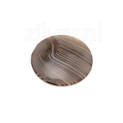 MY iMenso 24mm bruine agaat edelsteen 240932