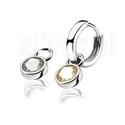 Zinzi Creoolhangers Champagne Wit Zich1006c