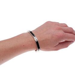 zilveren armband onyx en swarovski GL