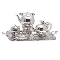 Kapitaal zilver servies van Bonebakker