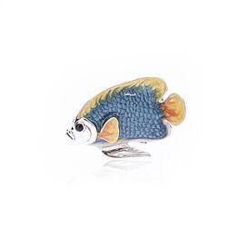Zilver miniatuur vis met emaille van Saturno