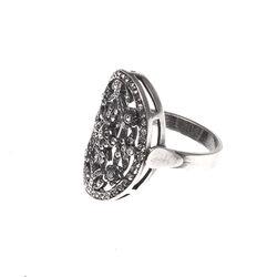 Gl Zilveren Ring Ovaal Opengewerkt