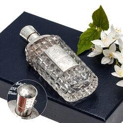 Persglazen Parfumflacon Zilveren Monturen