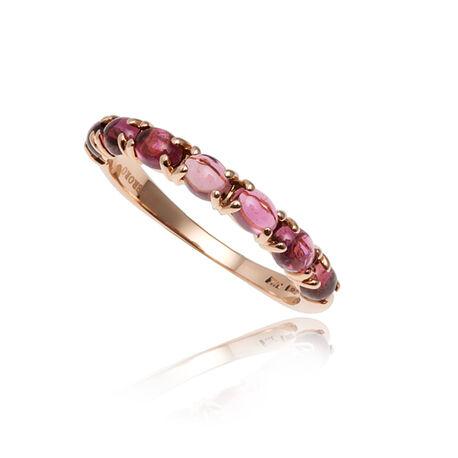roségouden ring roze toermalijn Superoro