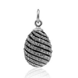 Faberge Hanger Zwart Emaille Zirkoon P23979s