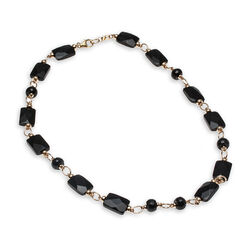 Faberge Gold Filled Collier Met Onyx