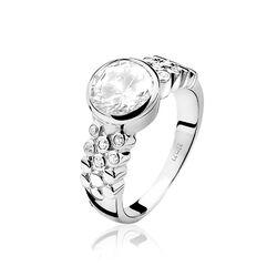 Zinzi ring grote witte zirkonia zir866