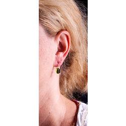 Gouden oorbellen peridot Superoro