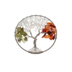 MY iMenso Zilveren Insignia Levensboom oranje met groen 330943