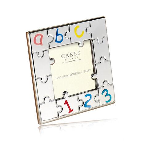 Carrs Fotolijst Zilver Puzzelstukjes Emaille