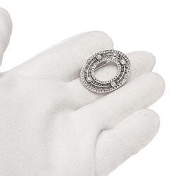 Gl Zilveren Broche Swarovski Crystal