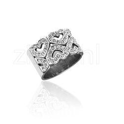 Gl Ring Hartjes Swarovski Crystals