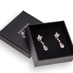 Gl Zilveren Oorhangers Swarovski Crystals