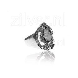 Gl Zilveren Ring Damesprofiel