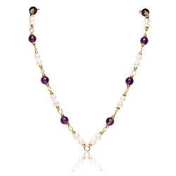 Fabergé collier amethist en parels HA2